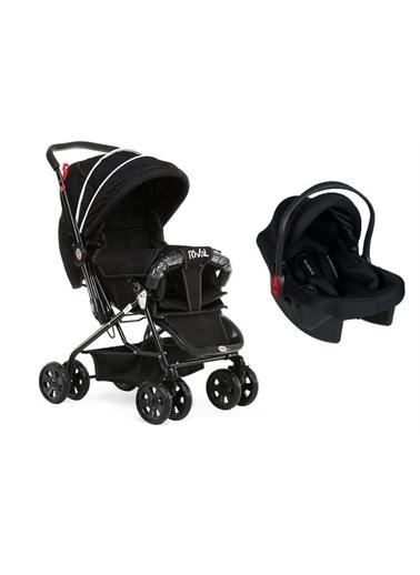 Rival Rv109 Lucido Çift Yönlü Travel Sistem Bebek Arabası Siyah